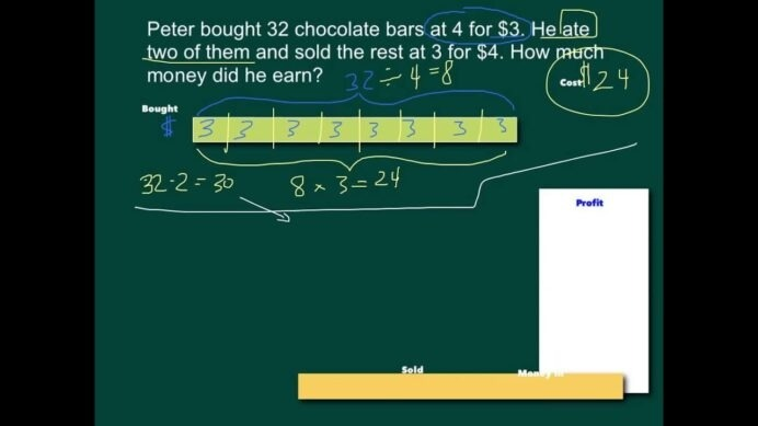 Bar Models Solving Word Problems Math Worksheets Christmas Puzzles