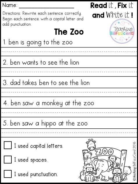 Best  Simple Sentences Worksheet