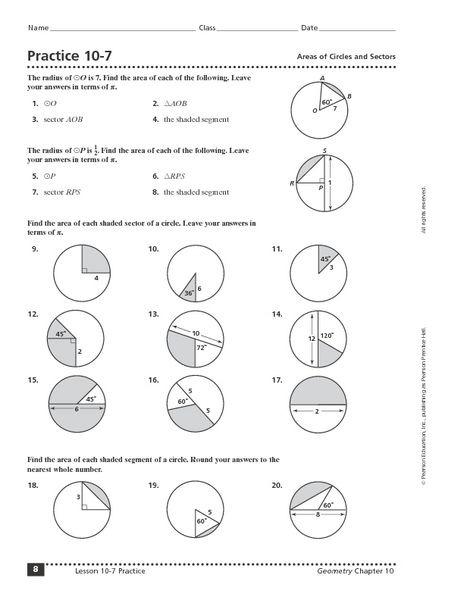 Geometry Worksheets Th Grade Answers Free High School Geometry