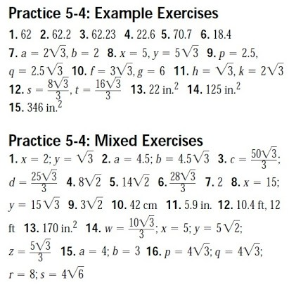 Geometry Worksheets With Answer Key