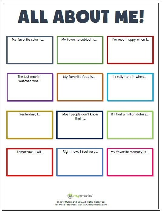 Great Ice Breaker Worksheet To Help Kids Learn More About Each