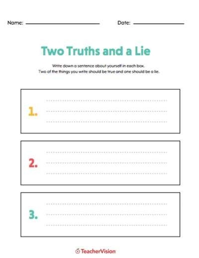Icebreakers Printables Games Lessons Advice Teachervision Middle