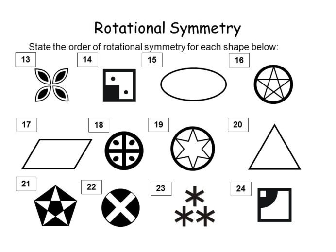 Rotational Symmetry All Dimensional Shapes Have Some Worksheets