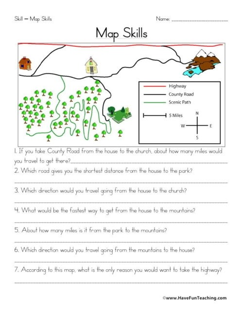 Social Studies Skills With Images Worksheets Grade Geography Map