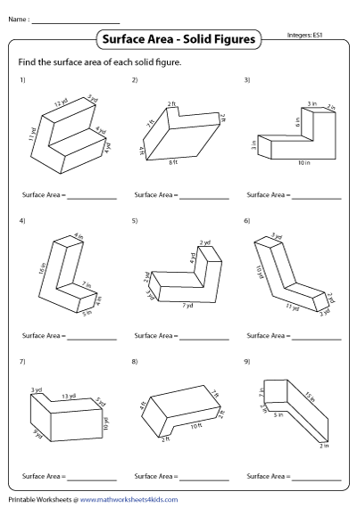 Surface Area And Volume Worksheets With Answers ...