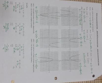 Algebra  End Of Course Worksheets