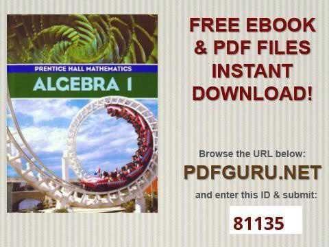 Algebra  Prentice Hall Mathematics