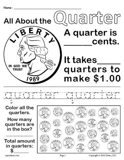 All About Coins  Printable Money Worksheets