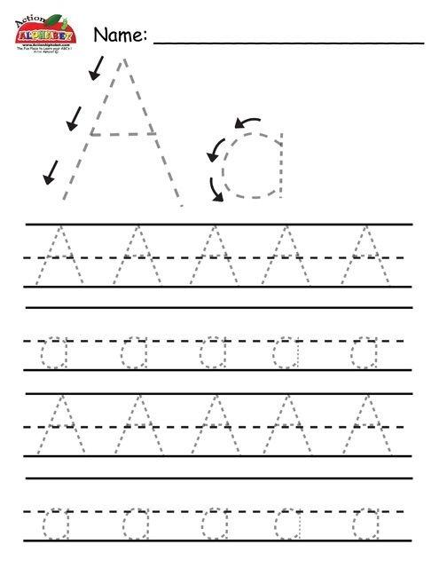 Alphabet Tracing Printables For Free