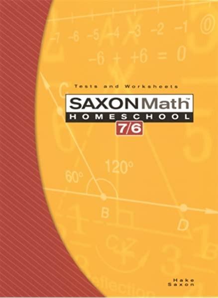 Amazoncom Saxon Math   Homeschool Edition Tests And