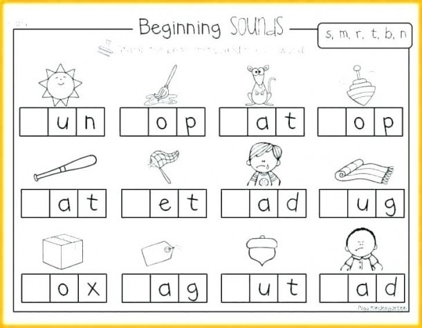 Beginning Consonant Sounds Worksheets For Initial Blends Free