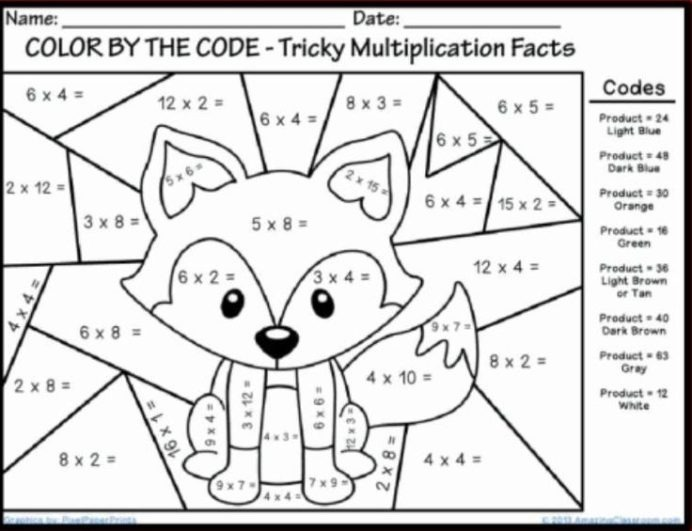 Best Coloring First Grade Math Sheets In Color Number Worksheets