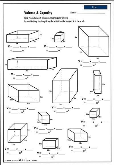 Calculating The Volume Of Rectangular Prisms  Mathematics Skills