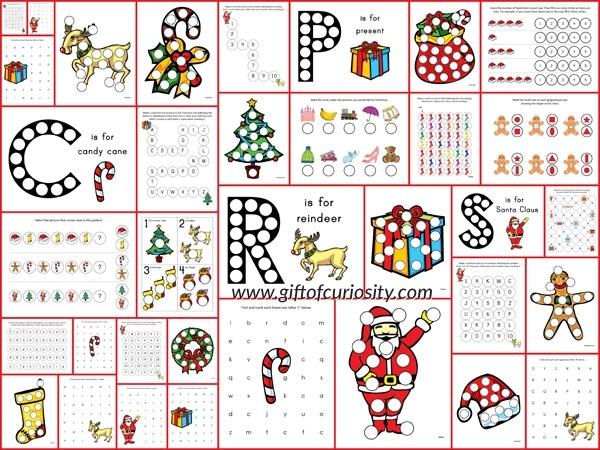 Christmas Do Dot Printables Gift Of Curiosity Worksheets For Older