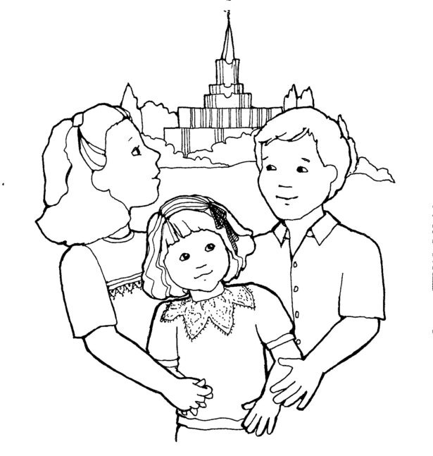 Church Family Coloring Printable Of Going To Year Math Assessment