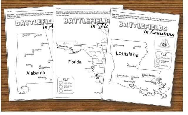 Civil War For Kids Worksheets - Worksheets Master