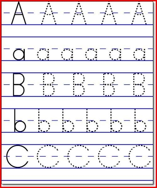 Collection Kindergarten Abc Worksheets Pictures
