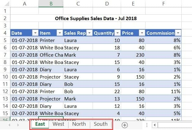 Combine Data From Multiple Worksheets Into A Single Worksheet In Excel