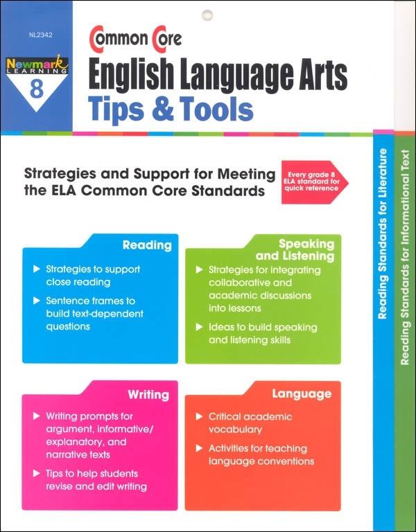 Common Core English Language Arts Tips   Tools Grade