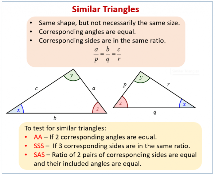 Congruence And Similarity Examples  Solutions  Worksheets  Videos