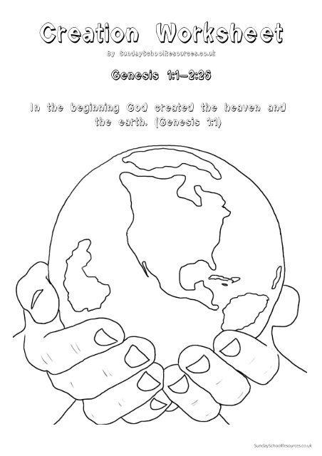 Creation Worksheet Booklet