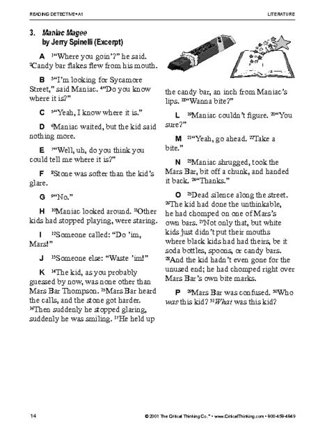 Critical Thinking Worksheet Grades