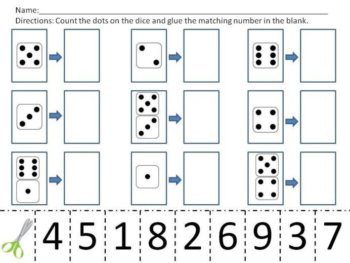 Cut And Paste Math Worksheets For Kindergarten First Grade Unit