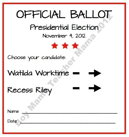 Free Presidential Election Worksheets For Kids ...