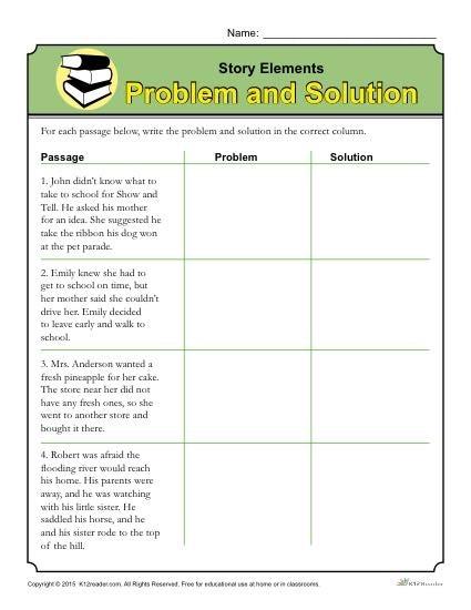 Elements Worksheet Problem And Solution Structure Worksheets Rd