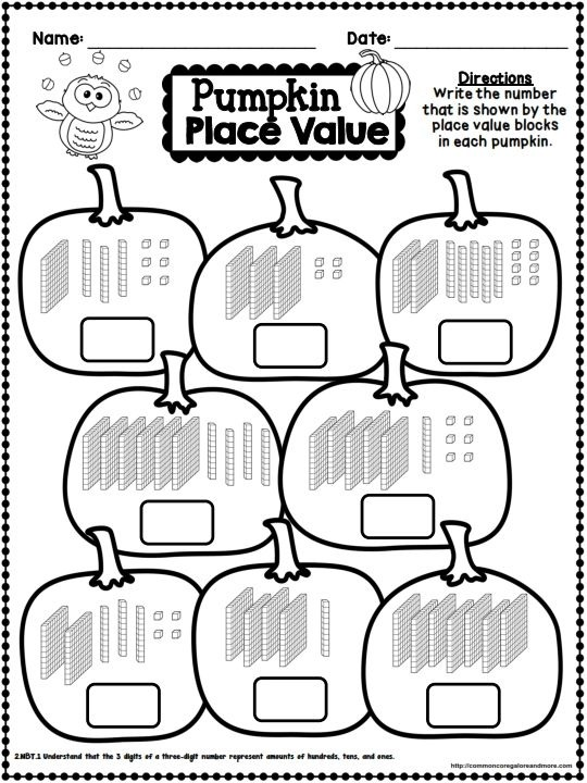 Fall No Prep Math And Literacy Printables Second Grade
