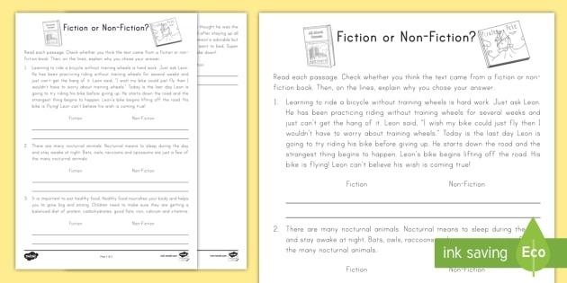 Fiction Or Non
