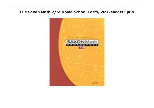 File Saxon Math  Home School Tests  Worksheets Epub