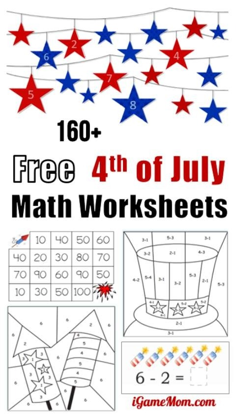 Fourth Of July Printable Math Worksheets Free Th Preschool To