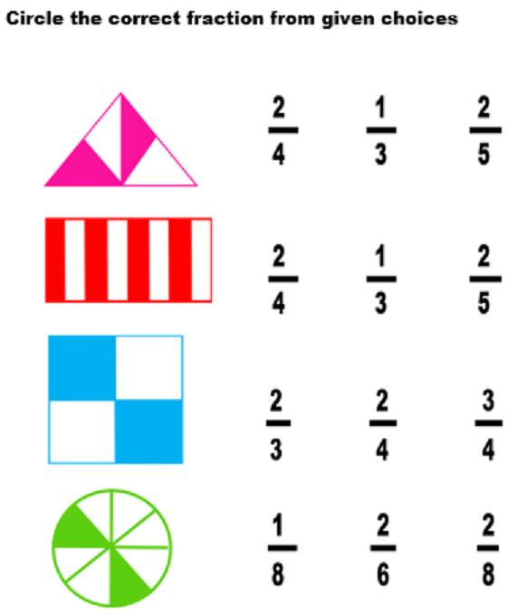 Fraction Worksheet For Grade