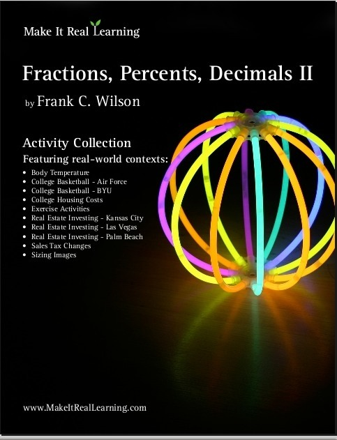 Fractions  Decimals  Percents Ii Workbook For Middle   High School