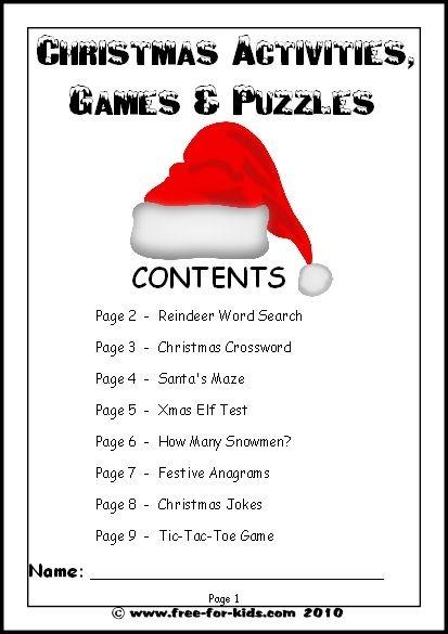 Free Christmas Printables Our Printable Worksheets For Older Kids