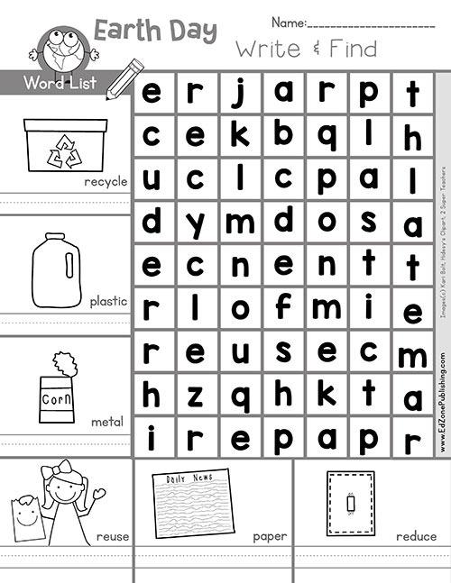 Free Earth Math Printable Worksheets For Kids Kindergarten
