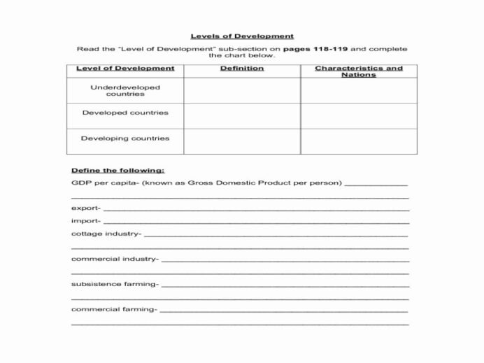 Free High School Geography Worksheets Printable And Economics For