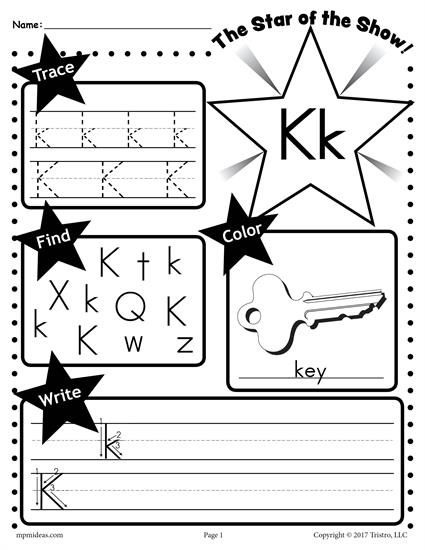 Free Letter K Worksheet