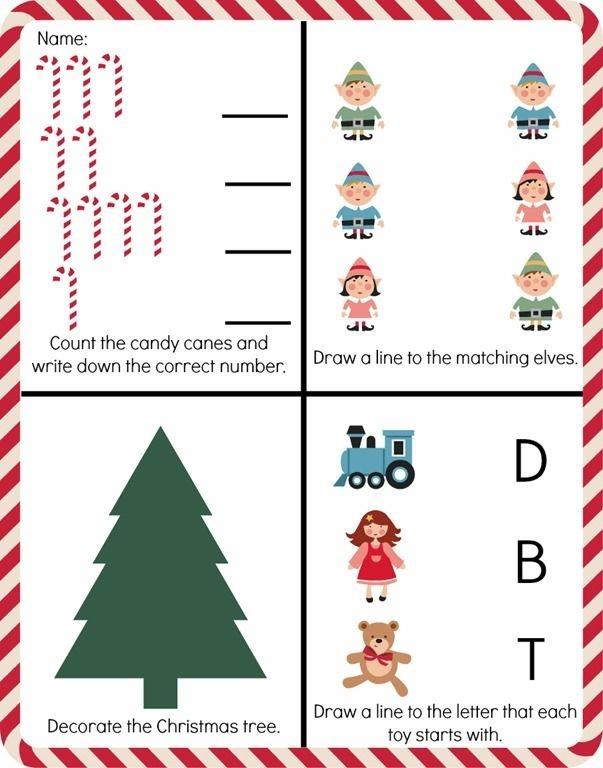 Free Printable Christmas Worksheet For Preschool Or Kindergarten