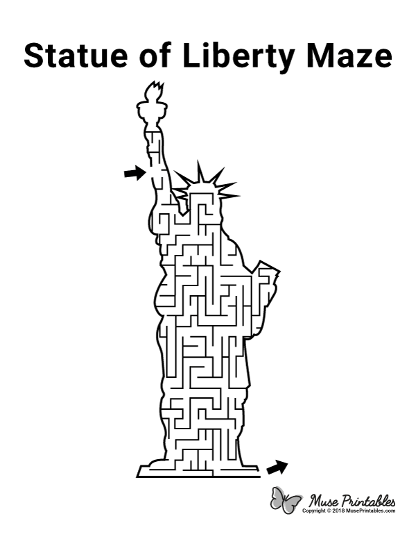Free Printable Statue Of Liberty Maze Download It From Https