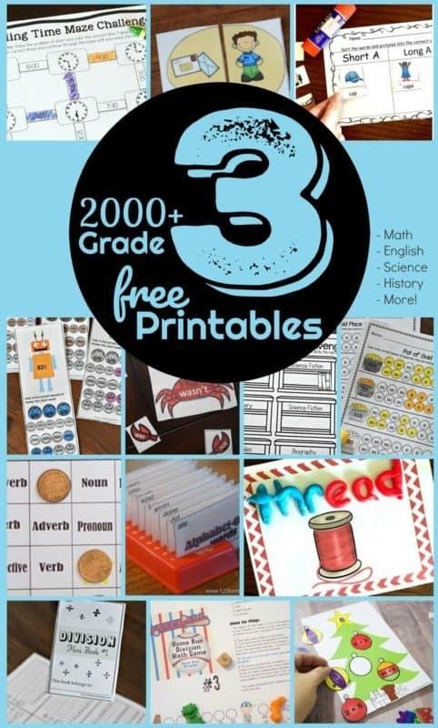 Free Rd Grade Worksheets