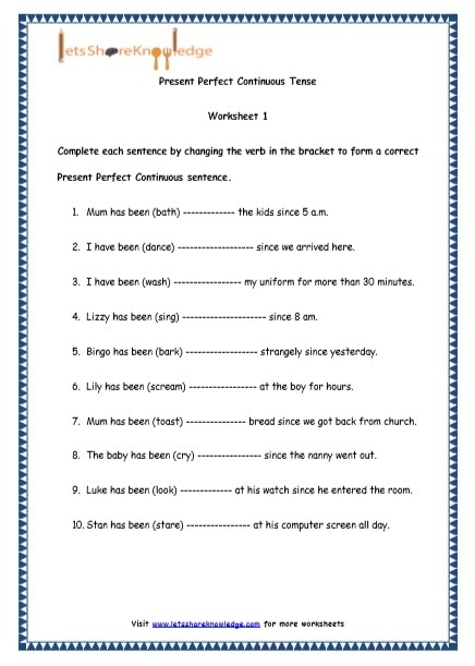 Grade  English Resources Printable Worksheets Topic Present