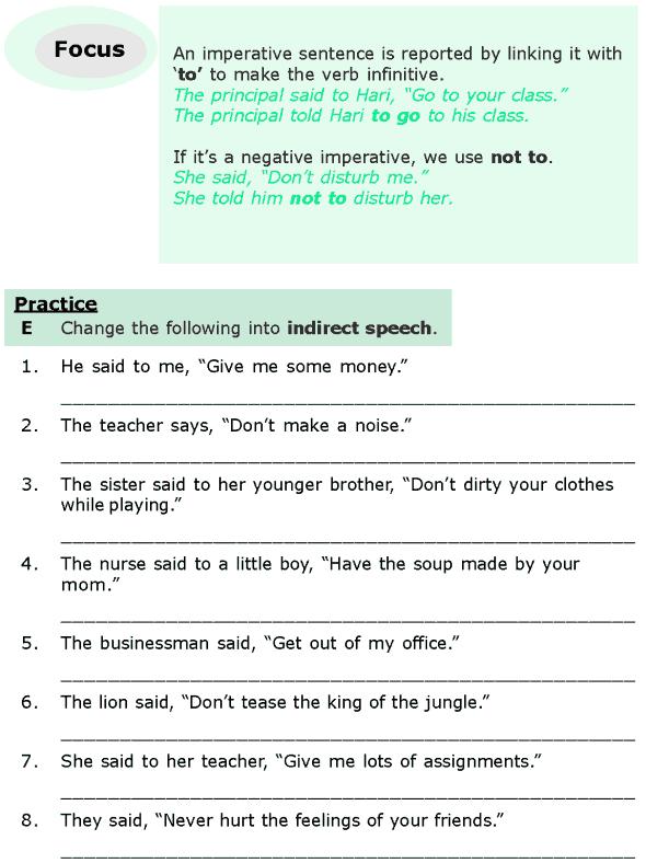 Grade  Grammar Lesson  Direct And Indirect Speech