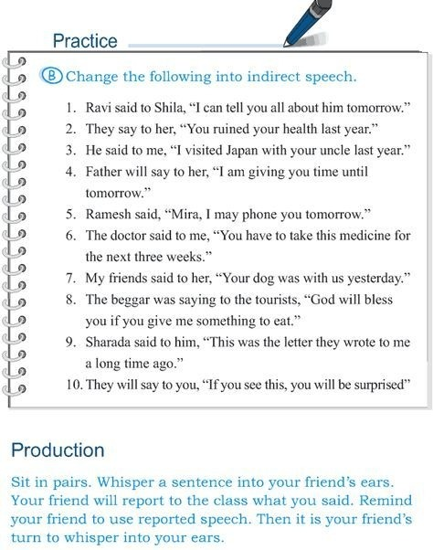 Grade  Grammar Lesson  Speech Direct And Indirect