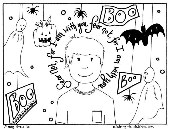 Halloween Coloring Religious Do Not Fear Free Pumpkin Boy Act Prep