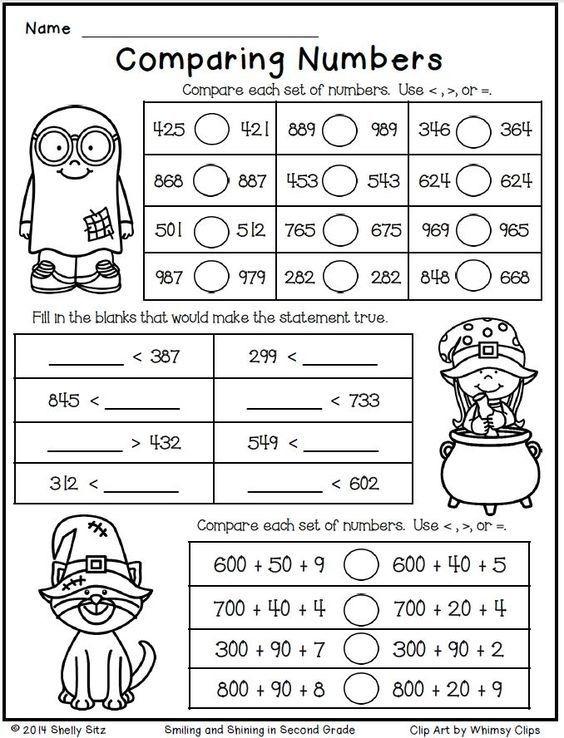 Halloween Math For Second Grade