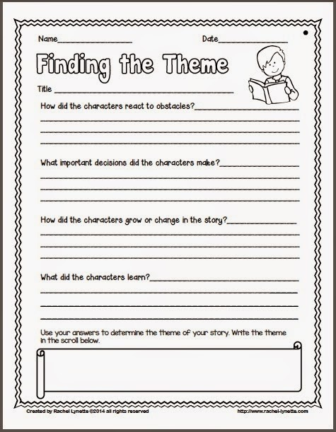 Ideas For Teaching Theme And Couple Freebies Minds In Bloom