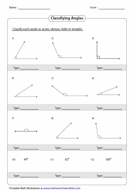 Identify And Classify The Angles
