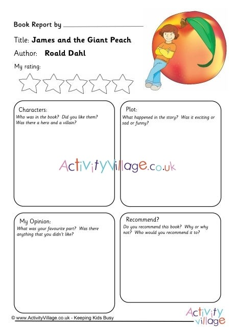 James And The Giant Peach Book Report